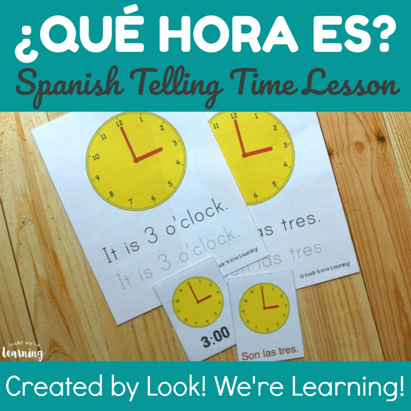 spanish worksheets for kids spanish telling time worksheets pack. Black Bedroom Furniture Sets. Home Design Ideas