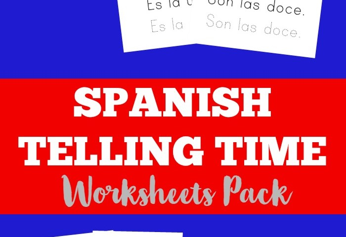 Subscriber Freebie: Spanish Telling Time Worksheets Pack