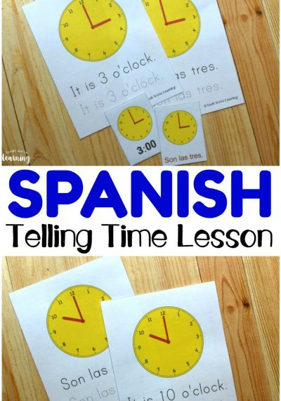 Spanish Worksheets for Kids: Spanish Telling Time Worksheets