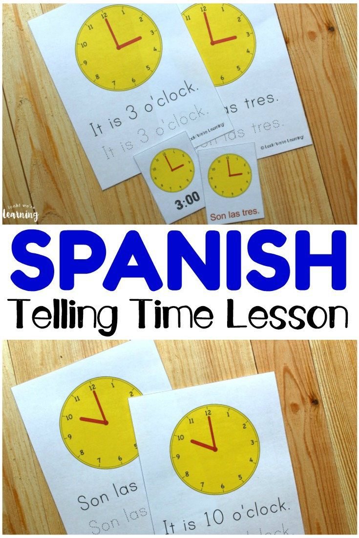Teach children how to tell time to the hour in Spanish with these printable Spanish telling time worksheets for kids! Wonderful for telling time practice in both English and Spanish!