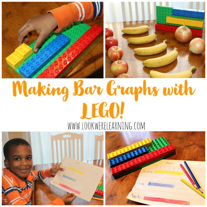 Use Lego to Make Bar Graphs for 1st Grade