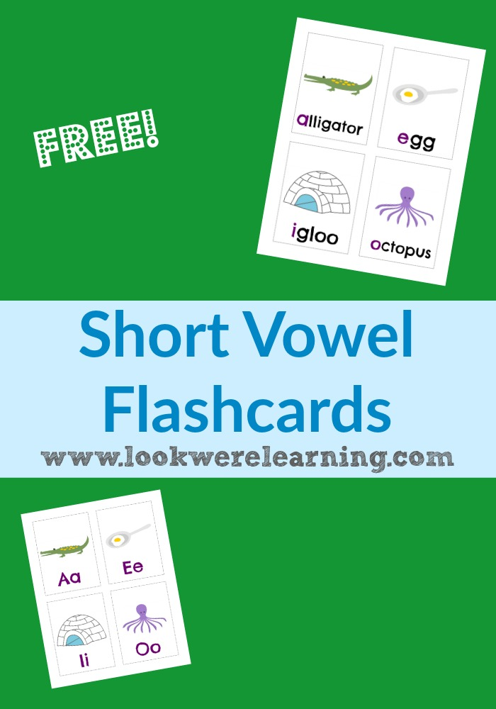 Free Printable Flashcards Short Vowel Flashcards @ Look! We're Learning!