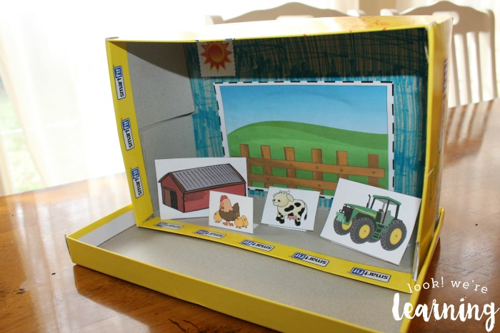 Assembled Farm Shoebox Diorama