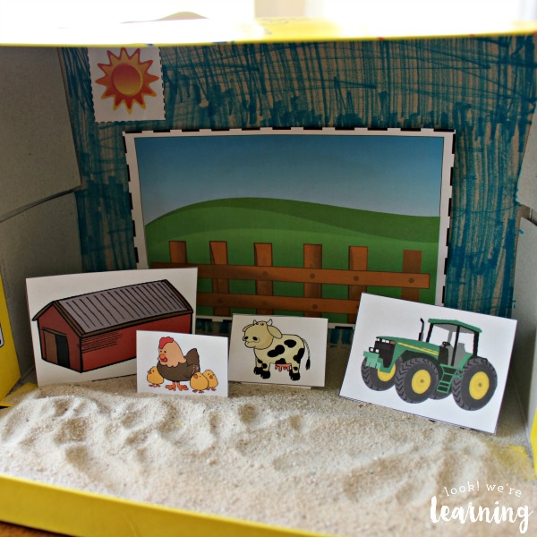 Easy Farm Shoebox Diorama Craft for Kids - Look! We're Learning!