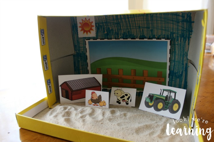 Finished Farm Shoebox Diorama Craft