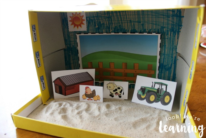 Making a Farm Shoebox Diorama Craft