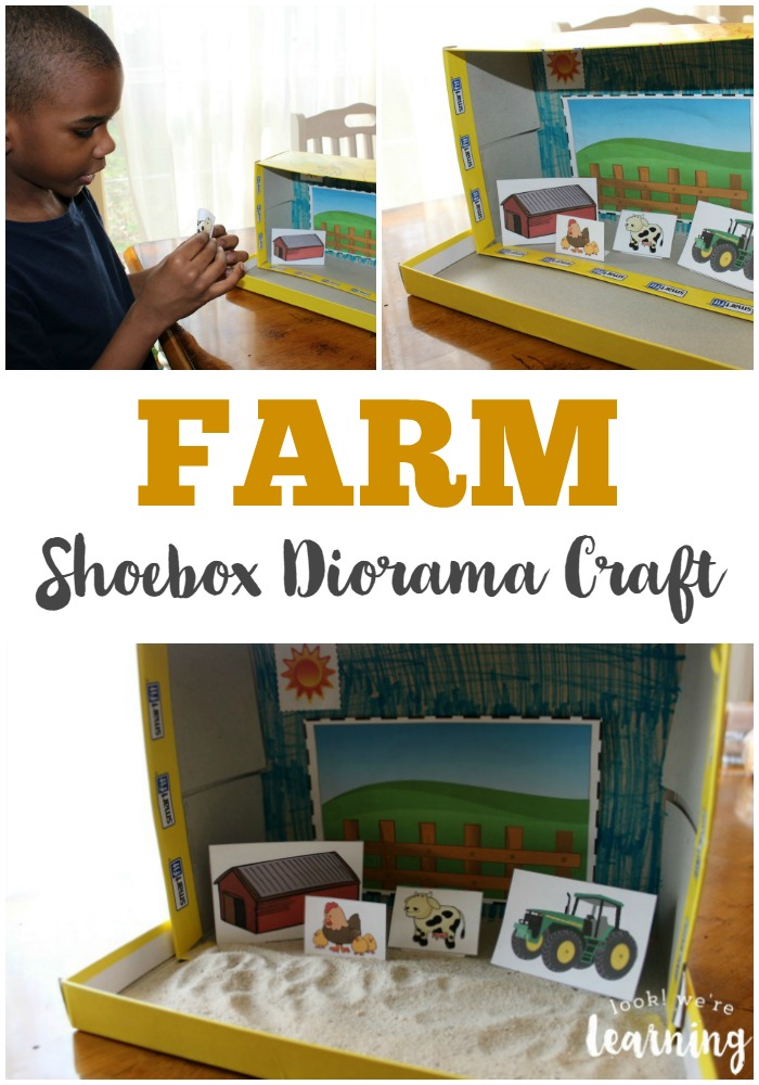 Super Easy Farm Shoebox Diorama Craft