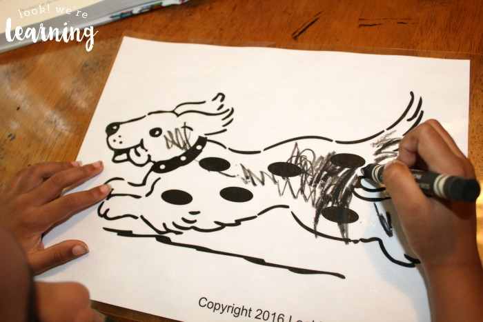 Harry the dirty dog activity look we 39 re learning for Harry the dirty dog coloring page
