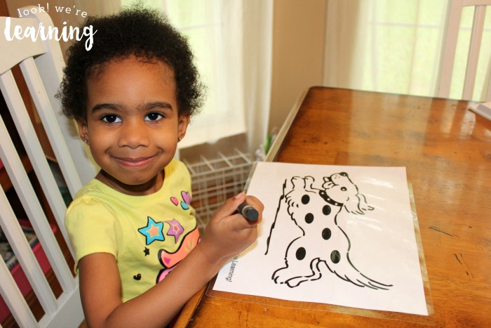 Harry the Dirty Dog Activity Coloring