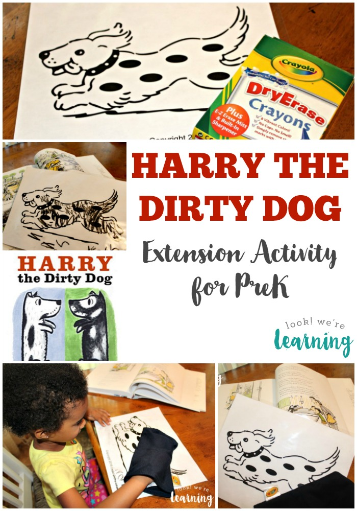Harry the Dirty Dog Activity for Tots and PreK