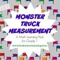 Monster Truck Measurement for First Grade Printables