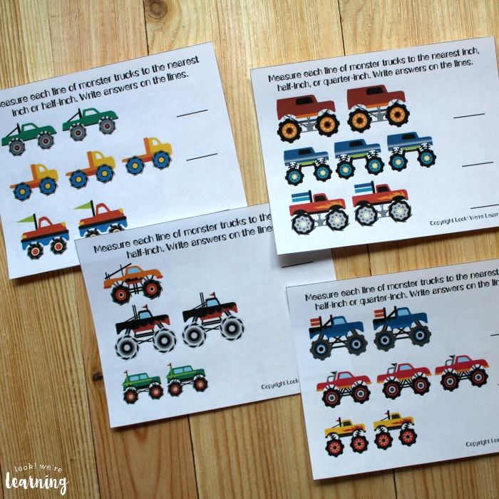 Monster Truck Themed Measurement for First Grade