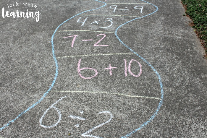 Outdoor Math Game Board Layout
