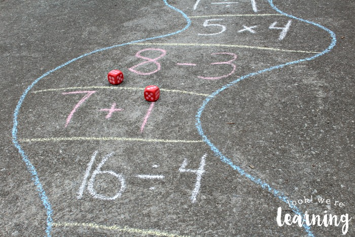 Outdoor Math Game Setup