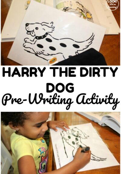 Share this fun and easy Harry the Dirty Dog prewriting activity with toddlers and preschoolers after reading the storybook together!