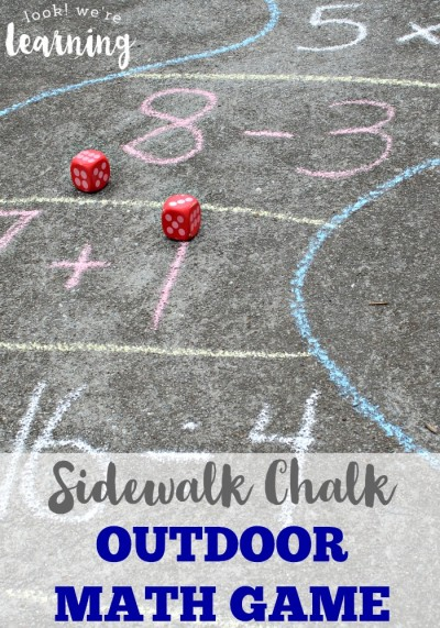 Sidewalk Chalk Outdoor Math Game