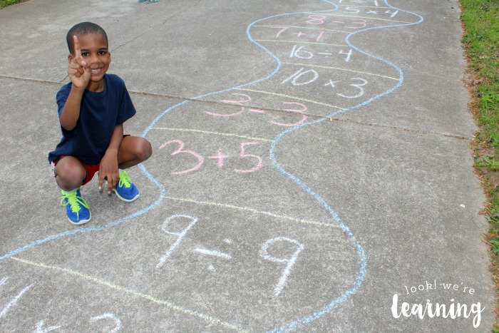 Solving Math Problems in an Outdoor Math Game