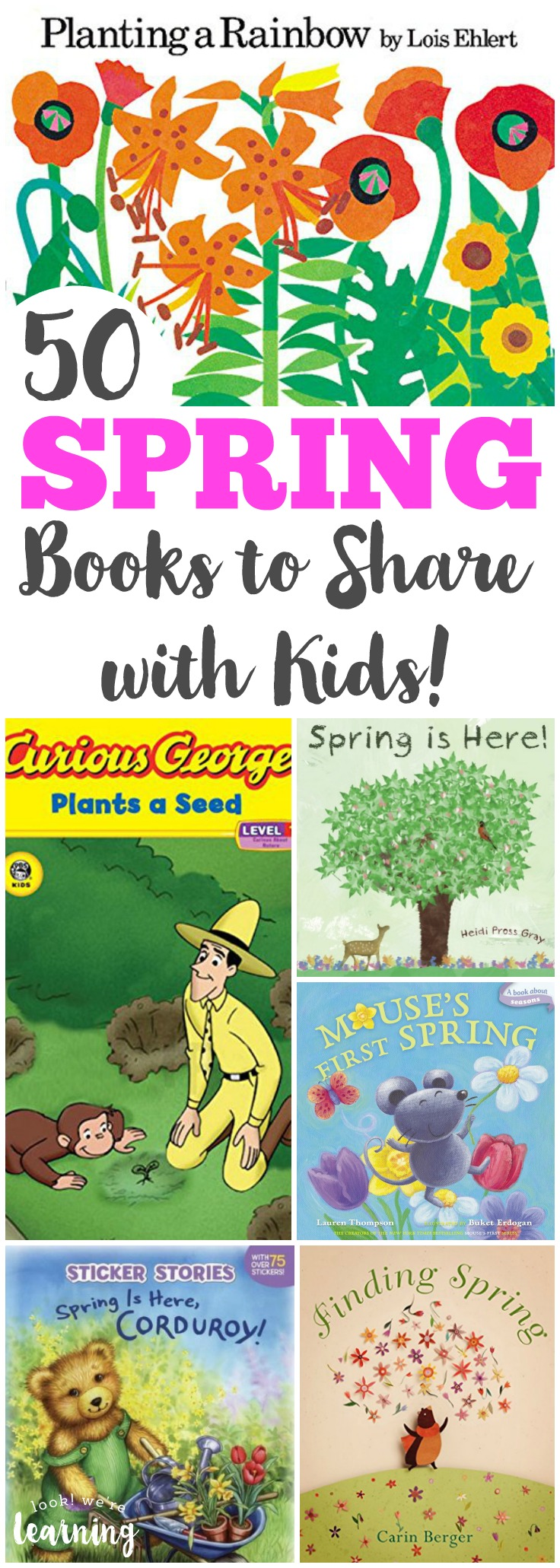 Spring is a wonderful time of year for sharing stories! Read some of these spring books for kids with your little ones!