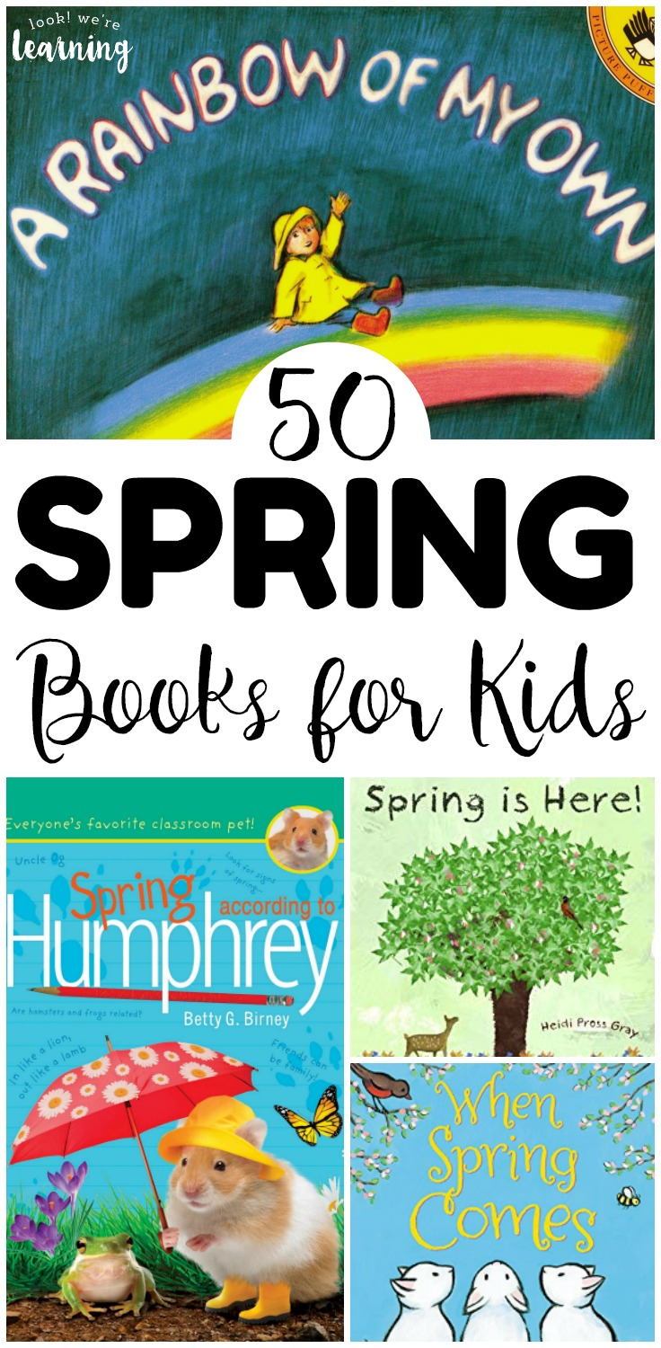 These beautiful spring books for kids are wonderful read aloud selections for springtime! There are spring board books, spring picture books, and spring chapter books to choose from!