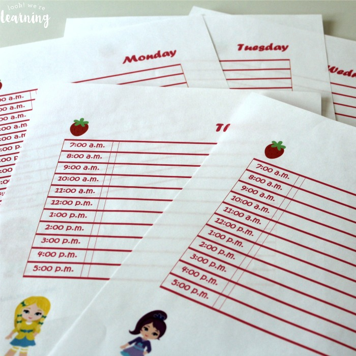 Printable Strawberry Friends Planner Pages