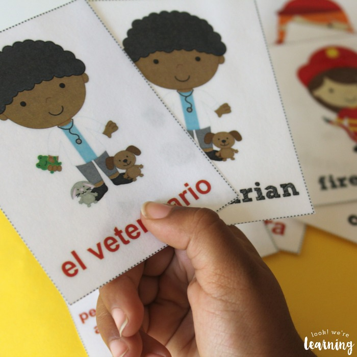 Spanish Community Helper Word Flashcards