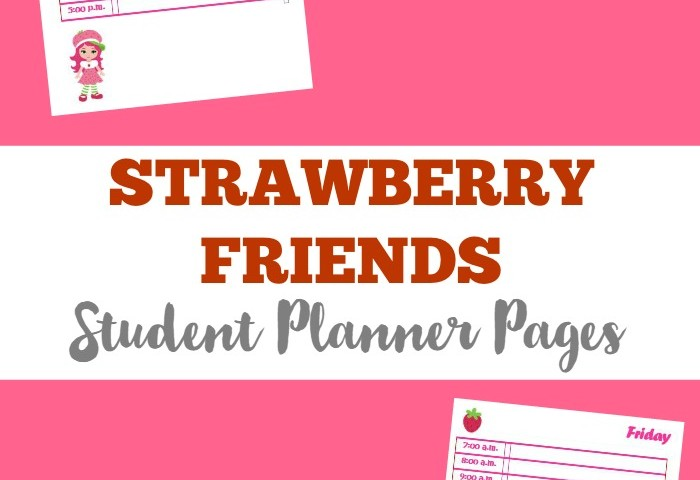Strawberry Friends Printable Student Planner Free Pages