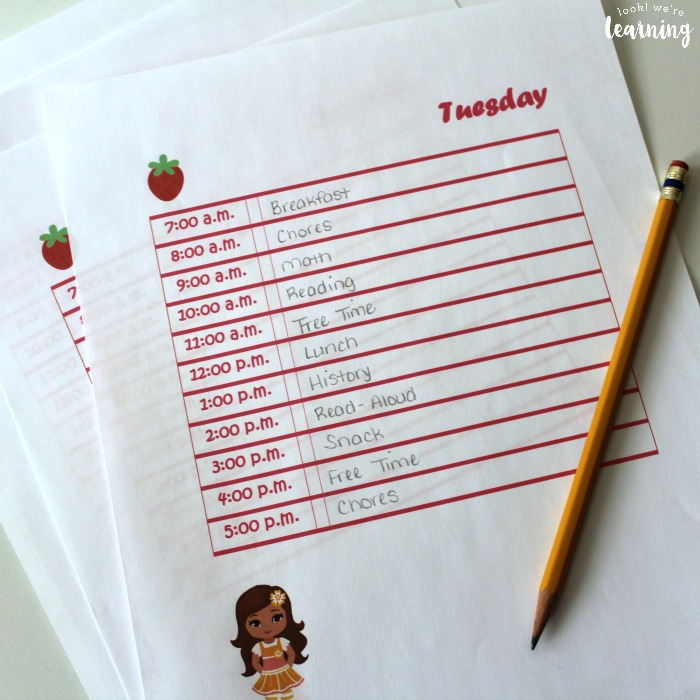Strawberry Friends Student Planner Free Pages