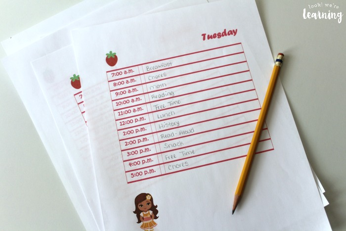 Strawberry Friends Student Planner Pages