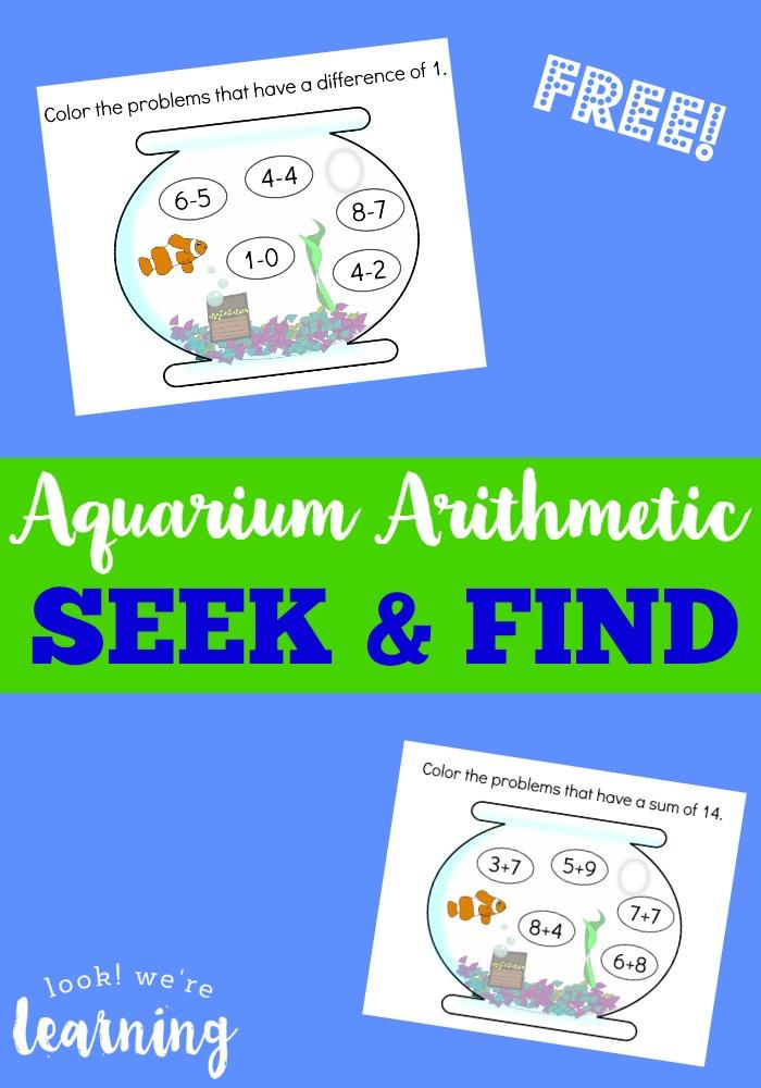 Aquarium Arithmetic Seek and Find