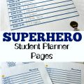 Pick up these superhero themed free student planner pages for your students this year!