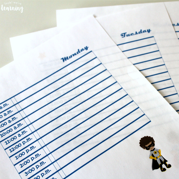 Printable Superhero Student Planner Pages