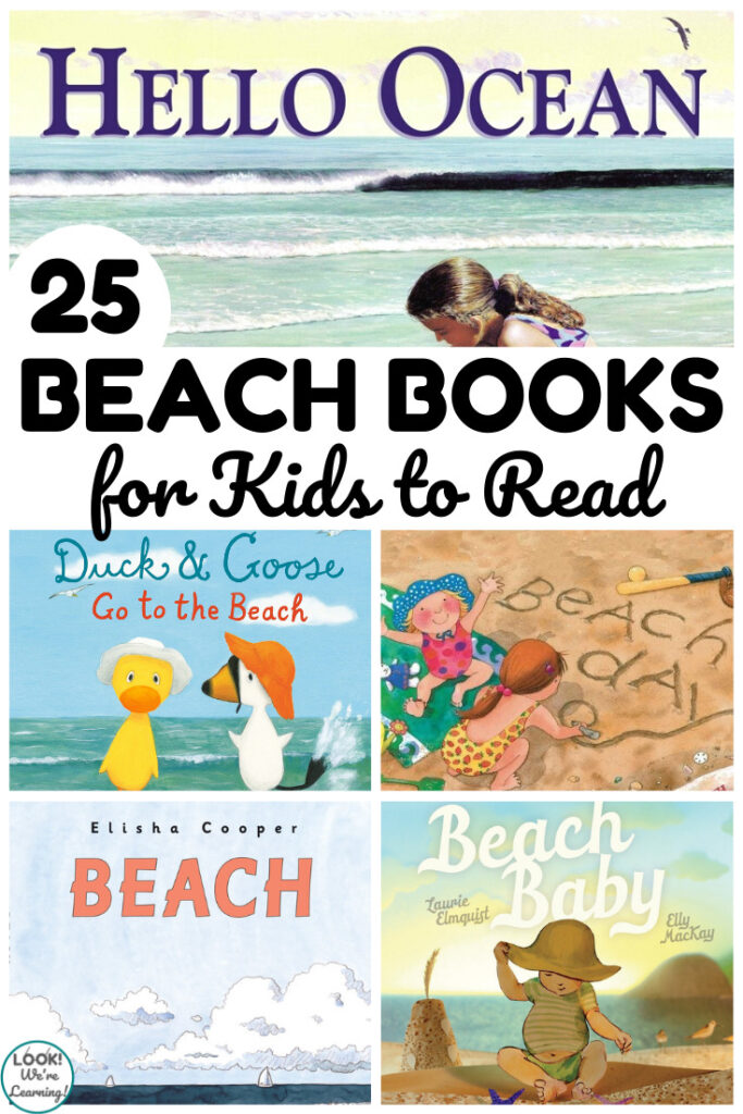 Share some of these lovely beach books for kids this summer!