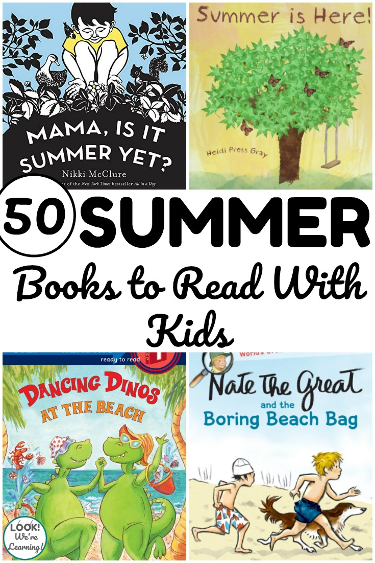 Share these summer books for kids with little ones during read aloud time!