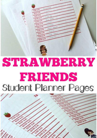 These Strawberry Friends student planner pages are so cute for the new school year!