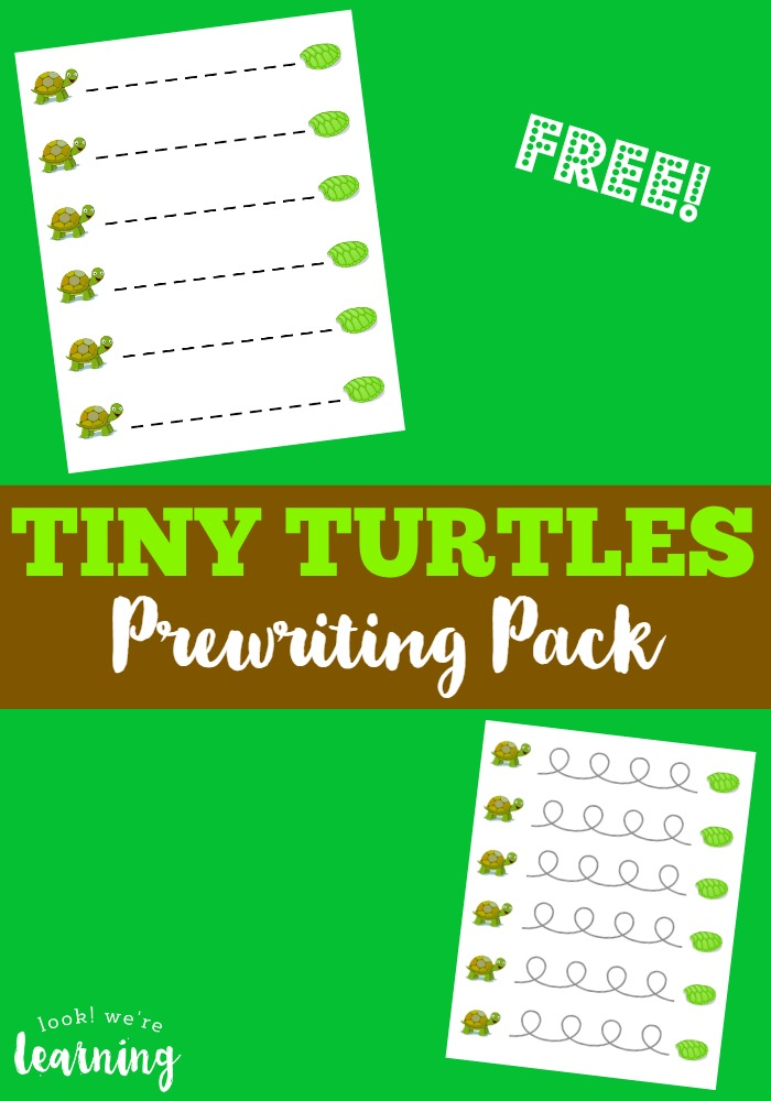 Tiny Turtles Prewriting Pack