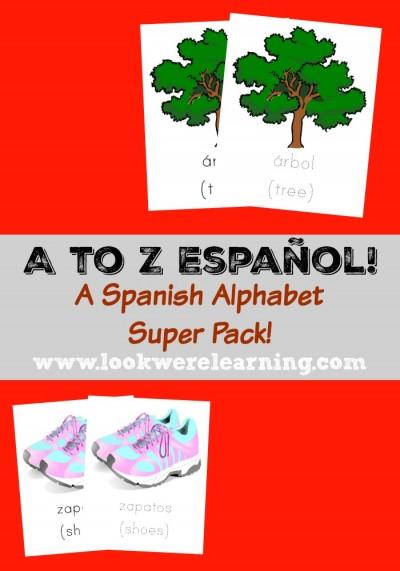A to Z Español Spanish Alphabet Printables Super Pack