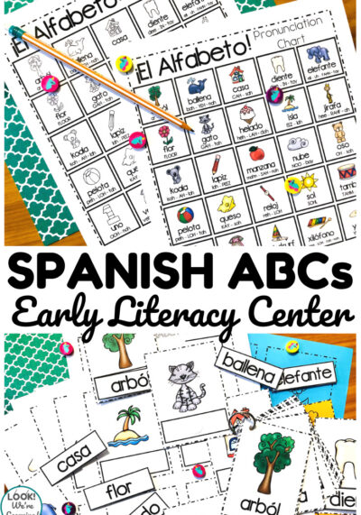 Learn the Spanish ABCs with this fun Spanish alphabet literacy center for early learners!