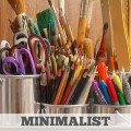 Minimalist Homeschooling Cutting Down on Craft Supplies