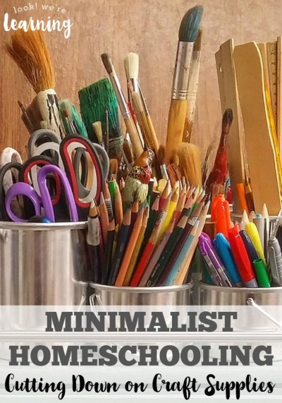 Minimalist Homeschooling Cutting Down on Craft Supplies