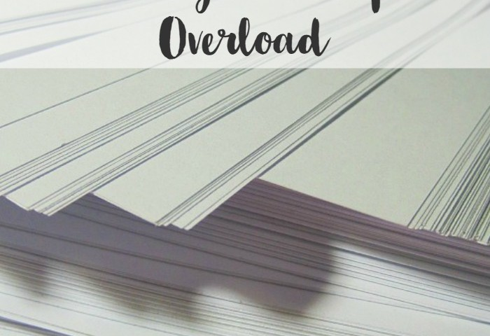Minimalist Homeschooling: Dealing with Paper Overload
