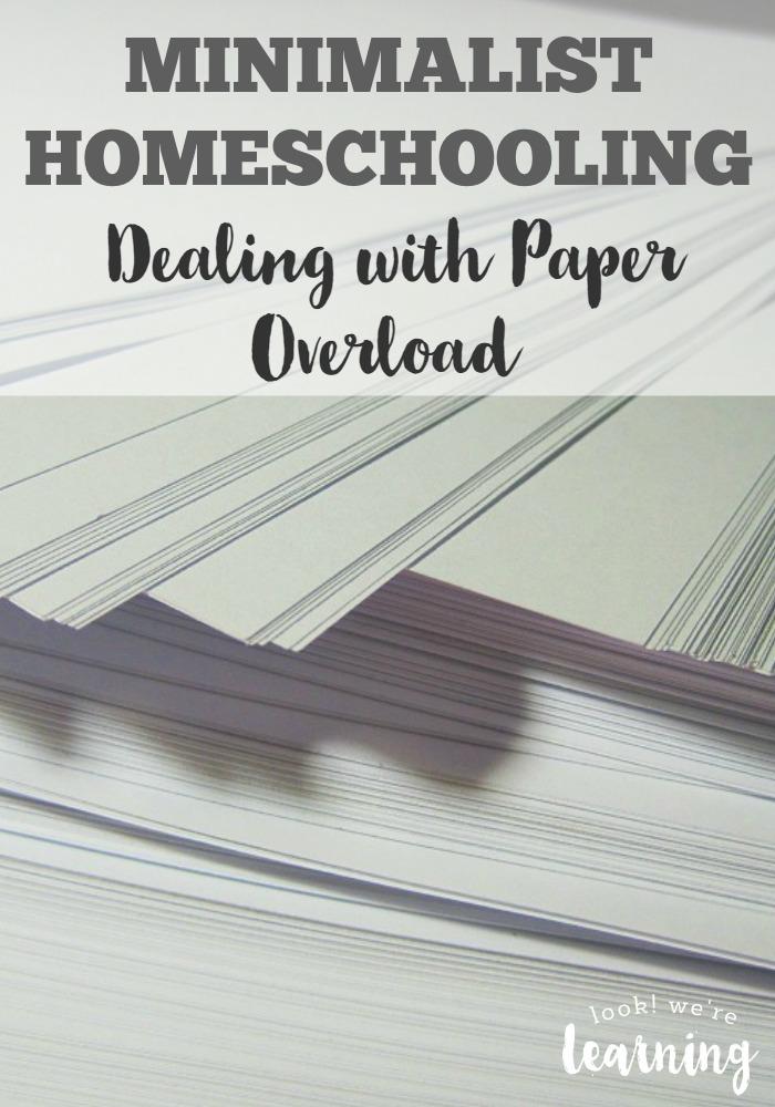 Minimalist Homeschooling Dealing with Paper Overload