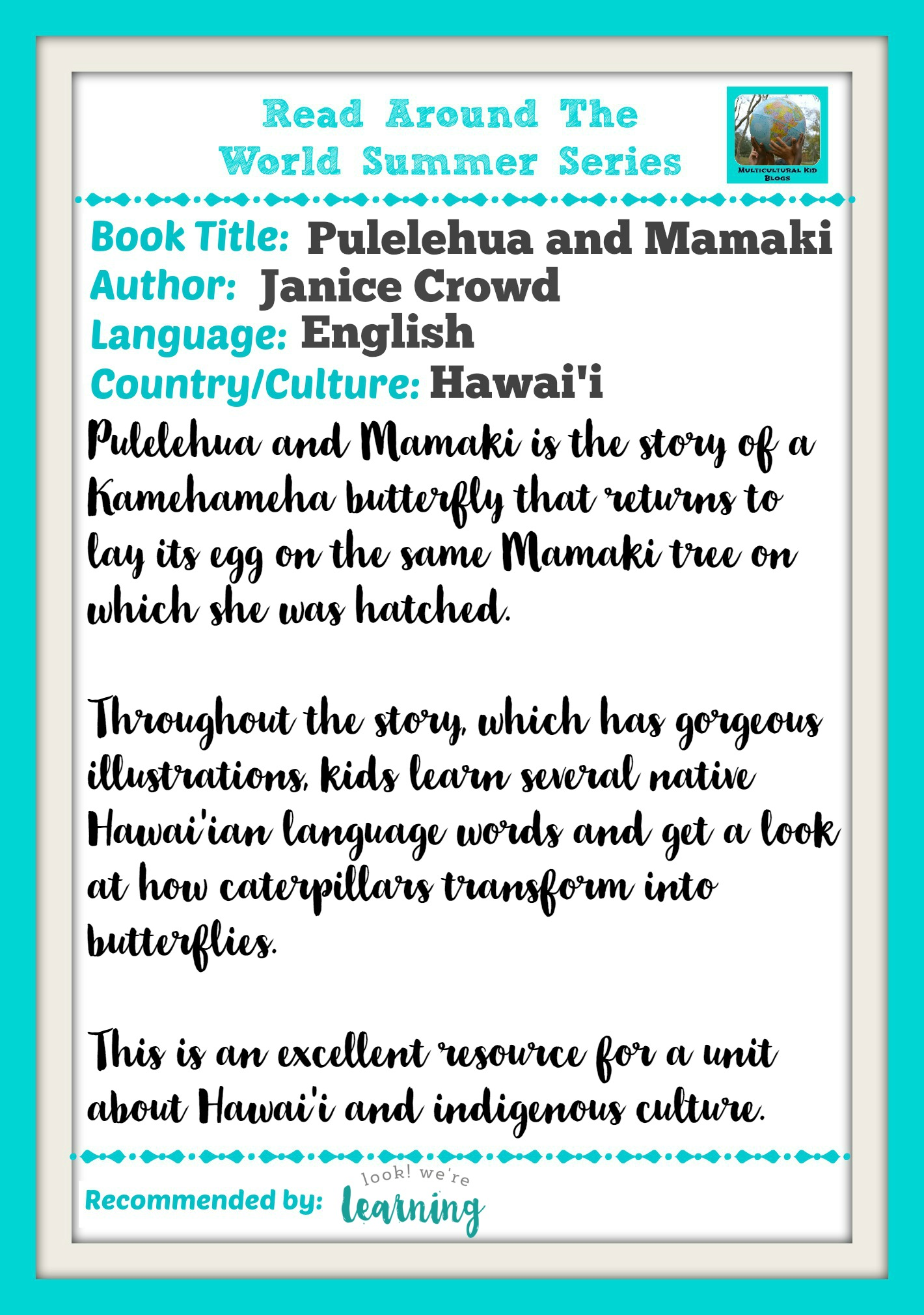 Pulelehua and Mamaki Book Review