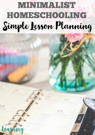 Simple Homeschool Lesson Planning