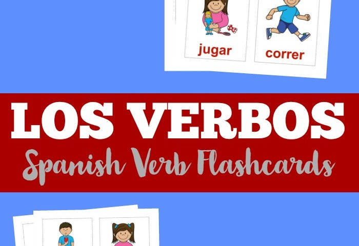 Printable Spanish Flashcards: Spanish Verb Flashcards