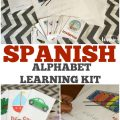Teach your kids how to say and recognize the alphabet in Spanish with this printable Spanish learning kit for kids!