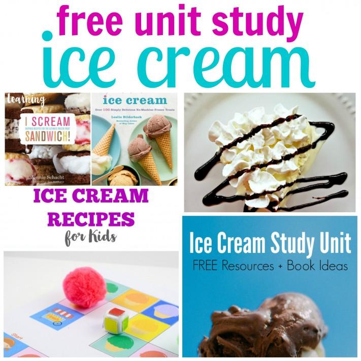 Free Ice Cream Unit Study Resources