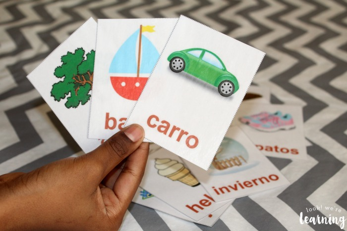 Using Spanish Alphabet Flashcards with Kids