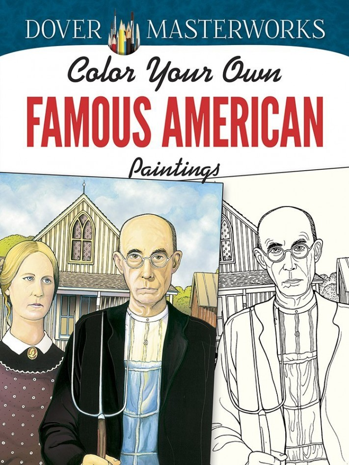 Color Your Own Famous American Paintings
