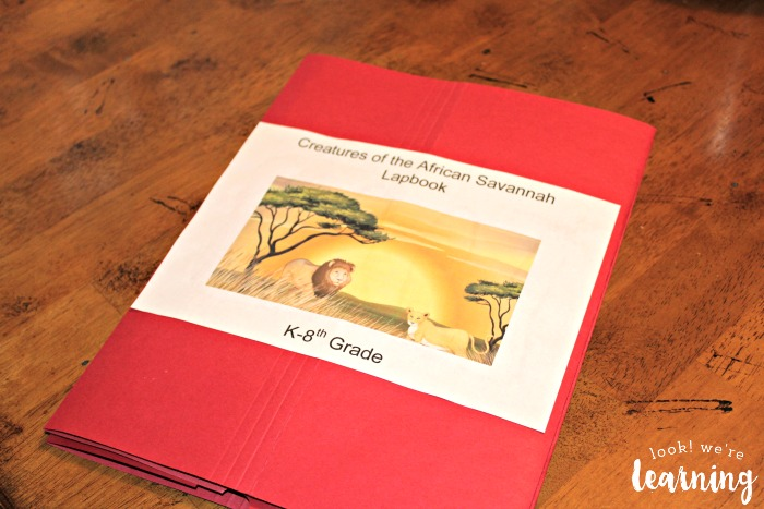 African Savannah Lapbook Cover