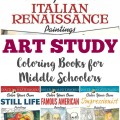 Art Study Coloring Books for Middle Schoolers